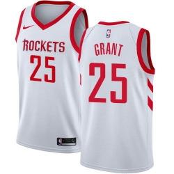 Men Nike Houston Rockets 25 Jerian Grant White NBA Swingman Association Edition Jersey