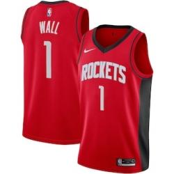 Men's Houston Rockets John Wall Red Nike Association Swingman Jersey