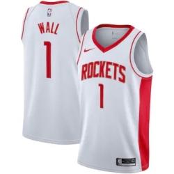 Men's Houston Rockets John Wall White Nike Association Swingman Jersey