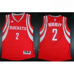 Revolution 30 Rockets 2 Patrick Beverley Red Road Stitched NBA Jersey