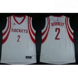 Revolution 30 Rockets 2 Patrick Beverley White Road Stitched NBA Jersey