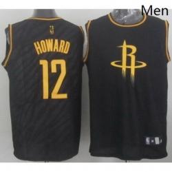 Rockets 12 Dwight Howard Black Precious Metals Fashion Stitched NBA Jersey
