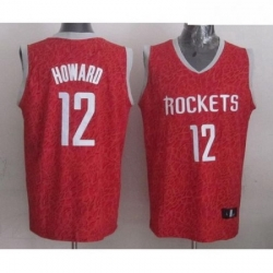 Rockets 12 Dwight Howard Red Crazy Light Stitched NBA Jersey