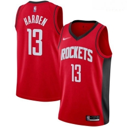 Rockets #13 James Harden Red Basketball Swingman Icon Edition 2019 2020 Jersey