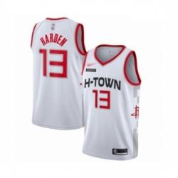 Rockets 13 James Harden White Basketball Swingman City Edition 2019 20 Jersey