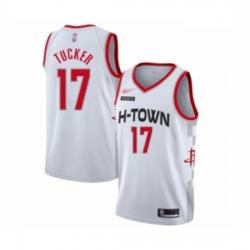 Rockets 17 PJ Tucker White Basketball Swingman City Edition 2019 20 Jersey