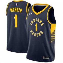 Men Nike Indiana Pacers 1 TJ Warren Navy Blue NBA Swingman Icon Edition Jersey