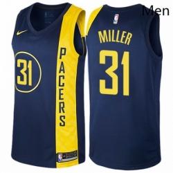 Mens Nike Indiana Pacers 31 Reggie Miller Swingman Navy Blue NBA Jersey City Edition