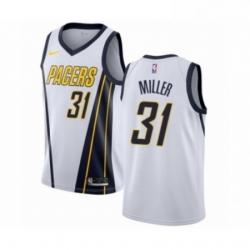 Mens Nike Indiana Pacers 31 Reggie Miller White Swingman Jersey Earned Edition