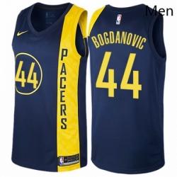 Mens Nike Indiana Pacers 44 Bojan Bogdanovic Authentic Navy Blue NBA Jersey City Edition