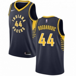 Mens Nike Indiana Pacers 44 Bojan Bogdanovic Authentic Navy Blue Road NBA Jersey Icon Edition