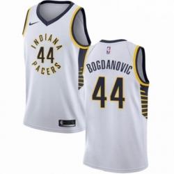 Mens Nike Indiana Pacers 44 Bojan Bogdanovic Authentic White NBA Jersey Association Edition