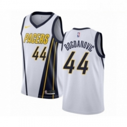 Mens Nike Indiana Pacers 44 Bojan Bogdanovic White Swingman Jersey Earned Edition