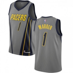 Pacers  1 T.J. Warren Gray Basketball Swingman City Edition 2018 19 Jersey