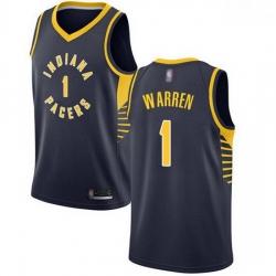 Pacers  1 T.J. Warren Navy Blue Basketball Swingman Icon Edition Jersey