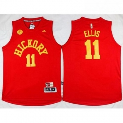 Pacers 11 Monta Ellis Red Hardwood Classics Stitched NBA Jersey