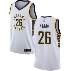 Pacers  26 Jeremy Lamb White Basketball Swingman Association Edition Jersey