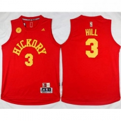 Pacers 3 George Hill Red Hardwood Classics Stitched NBA Jersey