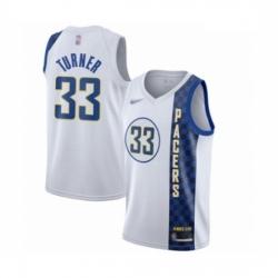 Pacers 33 Myles Turner White Basketball Swingman City Edition 2019 20 Jersey