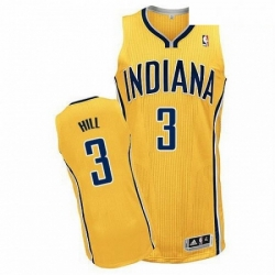 Revolution 30 Pacers 3 George Hill Yellow Home Stitched NBA Jersey