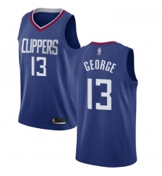 Clippers #13 Paul George Blue Basketball Swingman Icon Edition Jersey