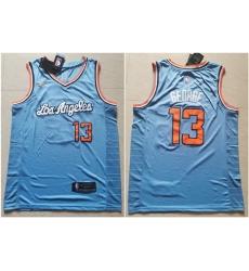 Clippers 13 Paul George Light Blue Nike Swingman Jersey