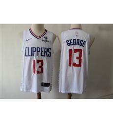 Clippers 13 Paul George White Nike Swingman Jersey