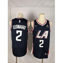 Clippers 2 Kawhi Leonard Black City Edition Nike Swingman Jersey