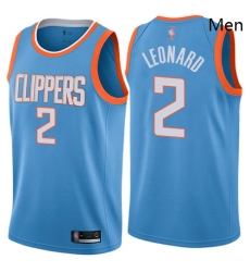 Clippers #2 Kawhi Leonard Blue Basketball Swingman City Edition Jersey