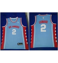 Clippers 2 Kawhi Leonard Light Blue Nike Swingman Jersey