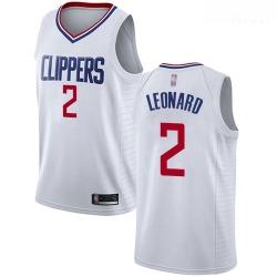 Clippers #2 Kawhi Leonard White Basketball Swingman Association Edition Jersey