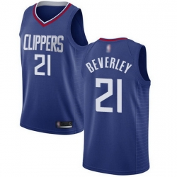 Clippers  21 Patrick Beverley Blue Basketball Swingman Icon Edition Jersey