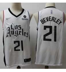 Clippers  21 Patrick Beverley White Basketball Swingman City Edition 2019 20 Jersey