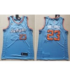 Clippers 23 Lou Williams Light Blue Nike Swingman Jersey