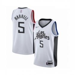 Clippers 5 Montrezl Harrell White Basketball Swingman City Edition 2019 20 Jersey