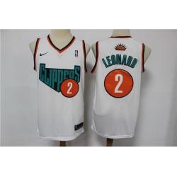 Men Los Angeles Clippers 2 Kawhi Leonard White Swingman Jersey