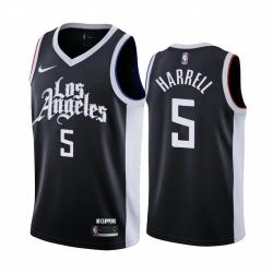 Men Nike Los Angeles Clippers 5 Montrezl Harrell Black NBA Swingman 2020 21 City Edition Jersey