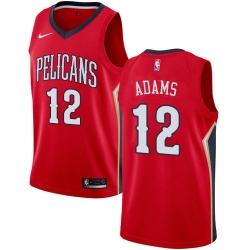 Men Nike New Orleans Pelicans 12 Steven Adams Red NBA Swingman Statement Edition Jersey