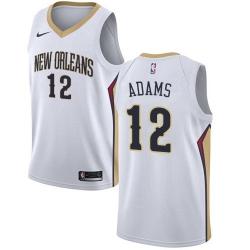 Men Nike New Orleans Pelicans 12 Steven Adams White NBA Swingman Association Edition Jersey