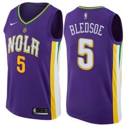 Men Nike New Orleans Pelicans 5 Eric Bledsoe Purple NBA Swingman City Edition Jersey