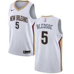 Men Nike New Orleans Pelicans 5 Eric Bledsoe White NBA Swingman Association Edition Jersey
