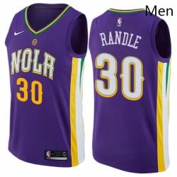Mens Nike New Orleans Pelicans 30 Julius Randle Swingman Purple NBA Jersey City Edition