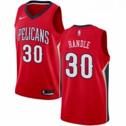 Mens Nike New Orleans Pelicans 30 Julius Randle Swingman Red NBA Jersey Statement Edition