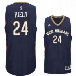 New Orleans Pelicans 24 Buddy Heild 2016 Road Navy New Swingman Jersey