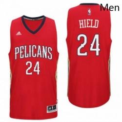 New Orleans Pelicans 24 Buddy Heild Alternate Red New Swingman Jersey