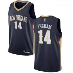 Pelicans #14 Brandon Ingram Navy Basketball Swingman Icon Edition Jersey