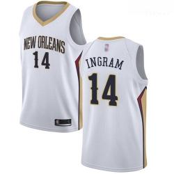 Pelicans #14 Brandon Ingram White Basketball Swingman Association Edition Jersey