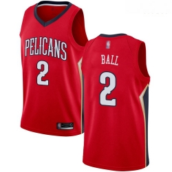 Pelicans #2 Lonzo Ball Red Basketball Swingman Statement Edition Jersey