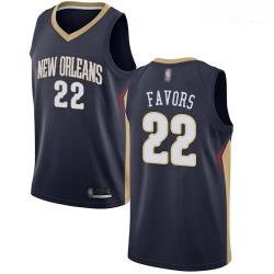 Pelicans #22 Derrick Favors Navy Basketball Swingman Icon Edition Jersey