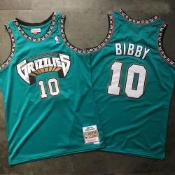 Grizzlies 10 Mike Bibby Teal 1998 99 Hardwood Classics Jersey